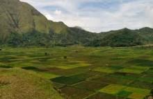 Pemandangan Desa Sembalun Lombok, NTB.