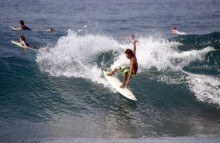 Selancar di Pantai Seger Lombok